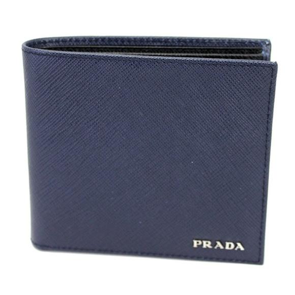 1cbf86204eab Prada Bags | Saffiano Leather Dual Colors Bifold Wallet | Poshmark